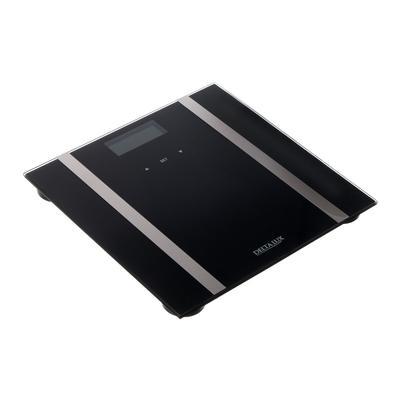 Весы напольные DELTA LUX DE-4600 , диагностические, до 180 кг, 2хААА, стекло, чёрные - Фото 1
