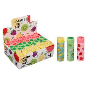 Ластик deVENTE Fruits синтетический, 50 х 12 мм, цилиндр, микс*3 цвета, (штрих-код)