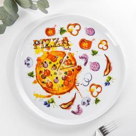 Блюдо для пиццы «Пицца», d=30 см, МИКС