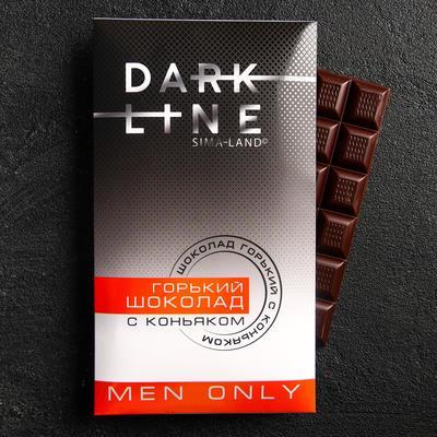 УЦЕНКА Горький шоколад Only man, с коньяком, 100 г. - Фото 1
