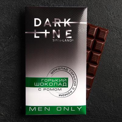 УЦЕНКА Горький шоколад Only man, с ромом, 100 г. - Фото 1