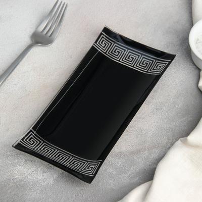Блюдо «Версаче», 19×9 см, цвет чёрный - Фото 1