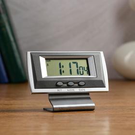 Часы настольные электронные 'Канис': календарь, будильник, 1 ААА,  10.5х4.2х7.7 см Ош