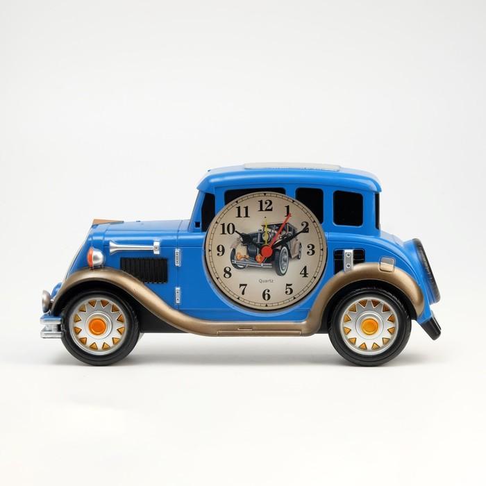 """Будильник """"Автомобиль"""", дискретный ход, 12 х 24.5 см, d=7.5 см"""