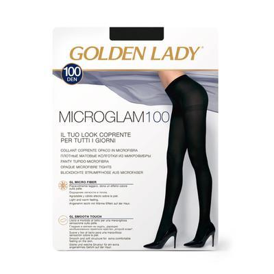 Колготки женские Golden Lady Micro Glam, 100 den, размер 2, цвет nero