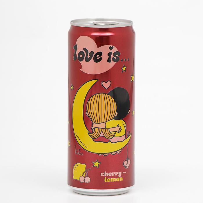 Вода газированная Love is, с вишней и лимоном, 330 мл