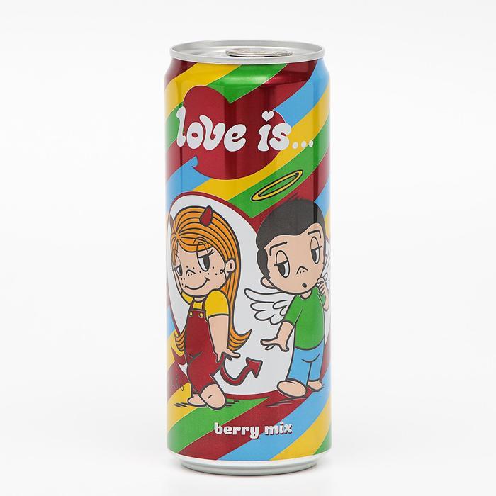 Вода газированная Love is «Ягодный микс», 330 мл
