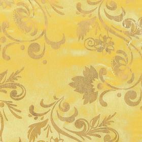 Ткань атлас бежевый с золотым узором Ош