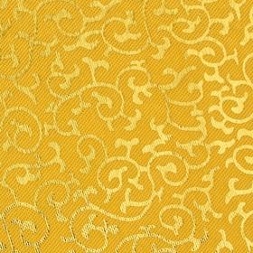 Ткань атлас бежевый с золотыми завитками Ош
