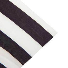 Ткань атлас бело-черная полоса, ширина 150 см Ош