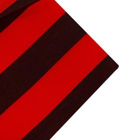 Ткань атлас красно-черная полоса, ширина 150 см Ош