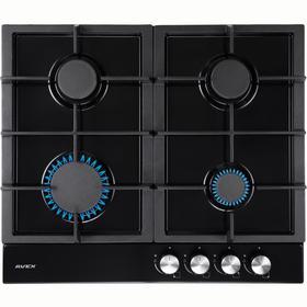 Варочная поверхность AVEX HS 6141 B, газовая, 4 конфорки, 56х48 см, чёрная