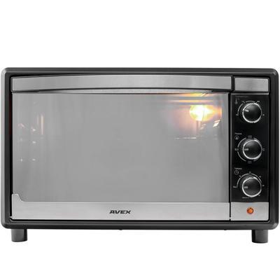 Мини-печь AVEX TR 350 MBCL, 1600 Вт, 35 л, 100-250°С, противень для пиццы, чёрная - Фото 1