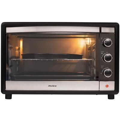Мини-печь AVEX TR 450 MBCL pizza, 2000 Вт, 45 л, 100-250°С, противень для пиццы, чёрная - Фото 1