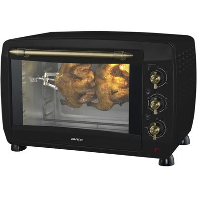 Мини-печь AVEX TR 450 RBСL, 2000 Вт, 45 л, 100-230°С, гриль, чёрная