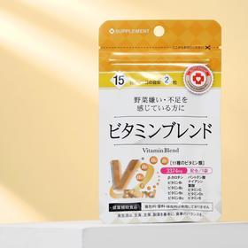 Витаминный комплекс японский B1, B2, B6, B12, C, D, E, при авитаминозе, 30 таблеток