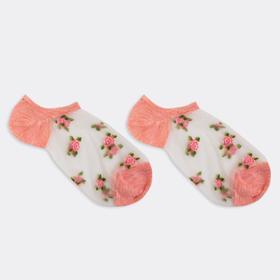 Носки женские, цвет розовый меланж, размер 23