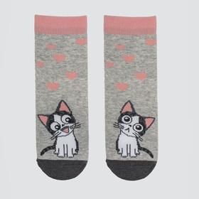 Носки детские, цвет светло-серый, размер 12