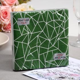 Салфетки бумажные New line FRESCO «Вышевка», 2 слоя, 33*33 см, 20 шт. МИКС