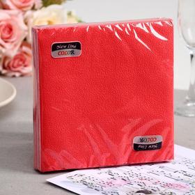Салфетки бумажные New line FRESCO «Красный», 2 слоя, 33*33 см, 20 шт.