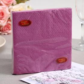 Салфетки бумажные Gold decor Pink heart, 3 слоя, 33*33 см, 20 шт.