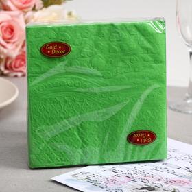 Салфетки бумажные Gold decor Green Heart, 3 слоя, 33*33 см, 20 шт.