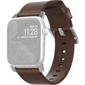 Ремешок Nomad Modern Leather Strap для Apple Watch 44мм/42мм, тёмно-коричневый Ош