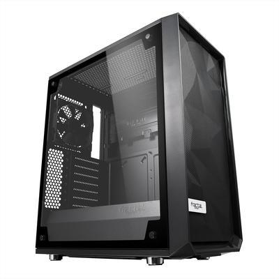 Корпус Fractal Design Meshify С Blackout TG Light, без БП, ATX, Midi-Tower, черный - Фото 1