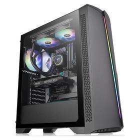 Корпус Thermaltake H350 TG RGB, без БП, ATX, Midi-Tower, черный