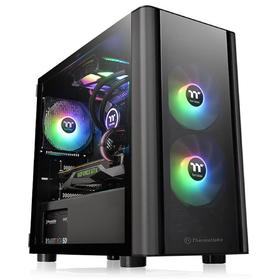 Корпус Thermaltake V150 TG, без БП, mATX, Mini-Tower, черный