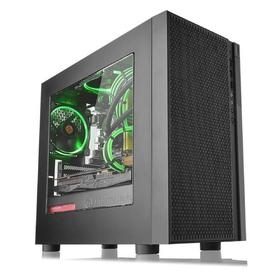 Корпус Thermaltake Versa H18 Window, без БП, mATX, Mini-Tower, черный