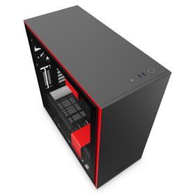 Корпус NZXT H710 CA-H710B-BR, без БП, E-ATX, Full-Tower, чёрный, красный