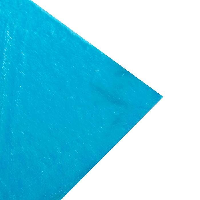 Мех искусственный голубой, ширина 165 см