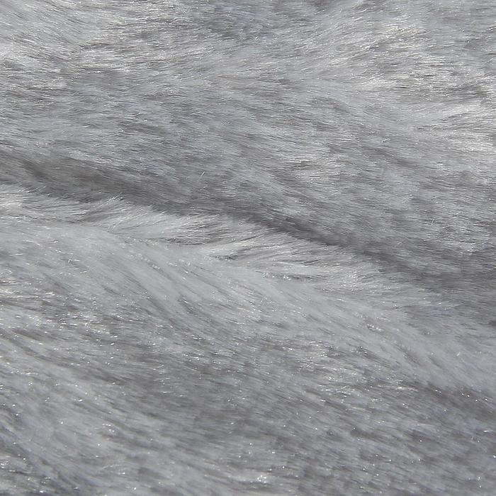 Мех искусственный серый, ширина 165 см