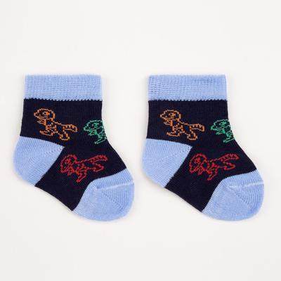 Носки детские, цвет синий, размер 7-8