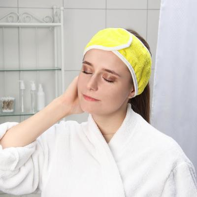 Повязка для волос на липучке Чистовье, махровая, 1 шт/уп, цвет МИКС - Фото 1