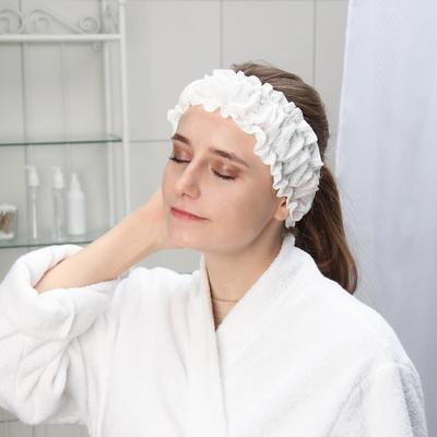 Набор фиксаторов для волос с двумя резинками одноразовый Чистовье, спанлейс, 10 шт/уп, цвет белый - Фото 1
