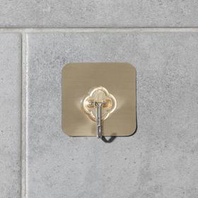 Крючок-наклейка «Классик», металл, цвет золотой Ош
