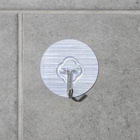 Крючок-наклйека «Классик», металл, цвет серебряный Ош