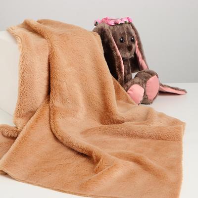 Лоскут для рукоделия, 50х50 см, мех, цвет светло-коричневый - Фото 1