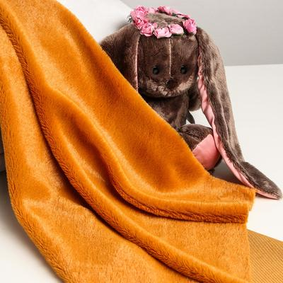 Лоскут для рукоделия, 50х50 см, мех, цвет рыже-коричневый - Фото 1