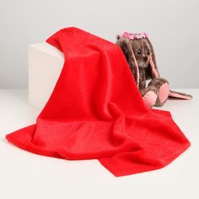 Лоскут для рукоделия, 50х50 см, мех, цвет красный