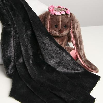 Лоскут для рукоделия 50х50 см, мех, цвет чёрный - Фото 1