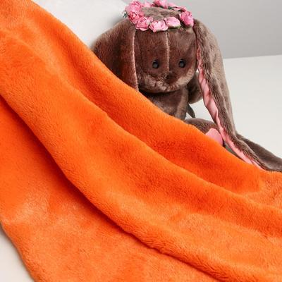 Лоскут для рукоделия, 50х50см, мех, цвет оранжевый - Фото 1