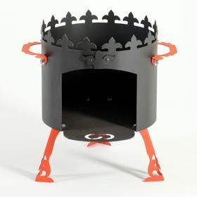 Печь под казан 'Ронда' 2 мм, диаметр 36 см, для казанов 8 - 12л Ош