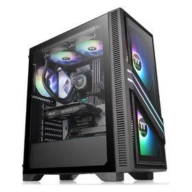 Корпус Thermaltake Versa T35 TG RGB, без БП, ATX, Midi-Tower, черный