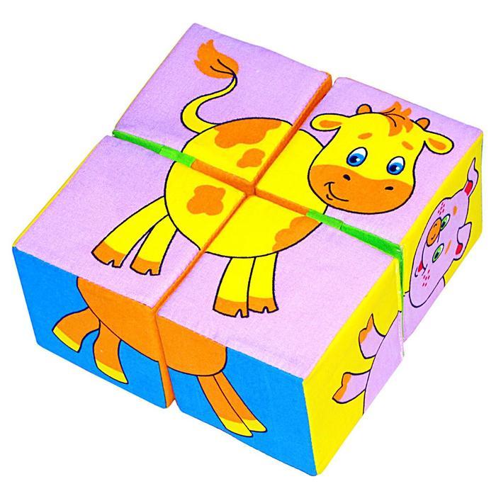 Развивающие кубики «Собери картинку. Домашние животные»