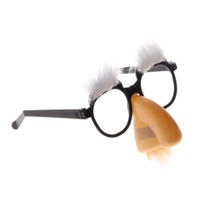Карнавальные очки-маска, брови, большой нос, 17х4х19 см