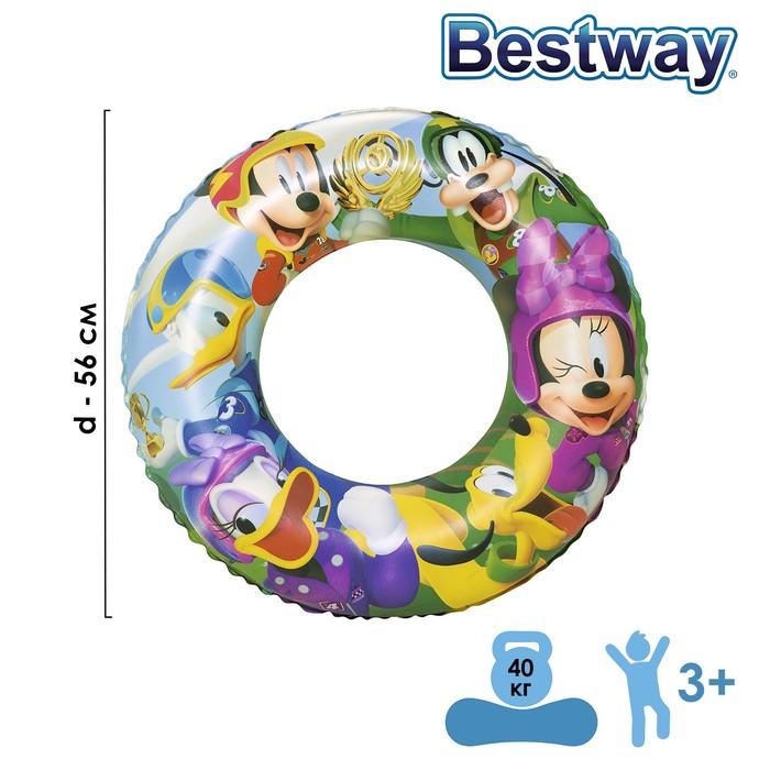 Круг для плавания Микки Маус, d56 см, от 3-6 лет, 91004 Bestway