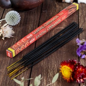 Благовония 'HEM Sandal Cinnamon' (Сандал Корица), четырехгранник, 8 палочек Ош